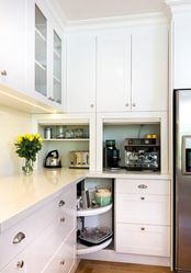 Like The Idea Of Hiding Appliances Behind Roll Up Type Doors, And The Lazy  Susan Built Straight Into The Corner. Warrandyte   Transitional   Kitchen  ...