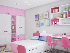 Large bedroom decorating ideas for girls require a lot of attention. Starting from the appropriate color and decoration to make it beautiful and comfortable. Girls Bedroom Storage, Bedroom Decor For Teen Girls, Teen Room Decor, Room Ideas Bedroom, Living Room Partition Design, Room Partition Designs, Kids Room Design, Home Room Design, Girls Furniture