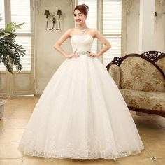 Awesome Cheap Vintage Lace Up Bridal Wedding Dresses 2017 Plus Size Robe de Mariage 2017-2018 Check more at http://fashion-look.top/product/cheap-vintage-lace-up-bridal-wedding-dresses-2017-plus-size-robe-de-mariage-2017-2018/