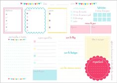 à imprimer agenda maman organisée - Recherche Google