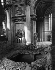 Bomb Crater at Saint Paul's Cathedral, WWII