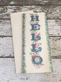 Vintage Greeting Card UNUSED ~HELLO~ with Envelope