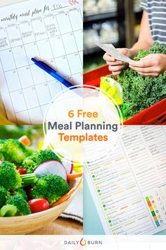 Free Meal Planning Templates to Simplify Your Life