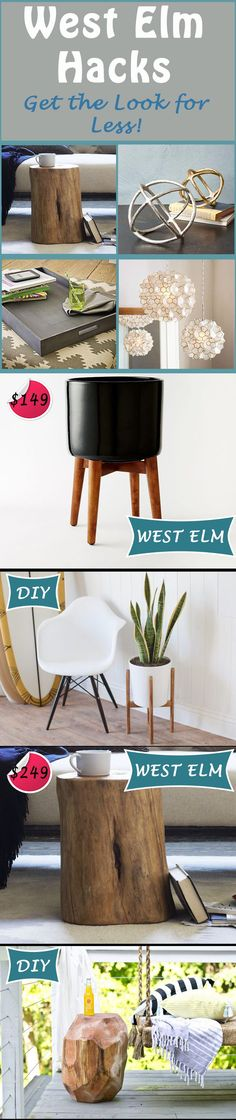 Who doesn't want a home straight out of West Elm? We've got all the dwell-inspired decor with step by step instructions on how to DIY it all for less! You can save so much with these hacks: http://www.ehow.com/how_12340732_west-elm-hacks-look-less.html?utm_source=pinterest.com&utm_medium=referral&utm_content=freestyle&utm_campaign=fanpage