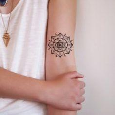 115 Mandala Tattoo Designs (part Mandala Tattoo Meaning, Lotus Mandala Tattoo, Mandala Flower Tattoos, Mandala Tattoo Design, Flower Tattoo Designs, Mini Tattoos, Small Tattoos, Tattoos For Guys, Cool Tattoos
