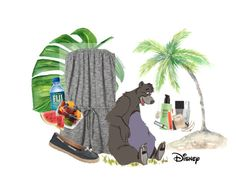 """The Jungle Book: Bear Necessities"" by atlanticwaves ❤ liked on Polyvore featuring Banana Republic, UGG, Ahava, MAC Cosmetics, Henri Bendel, Chapstick, too cool for school, Lapcos, Tiffany & Co. and Wet Seal"