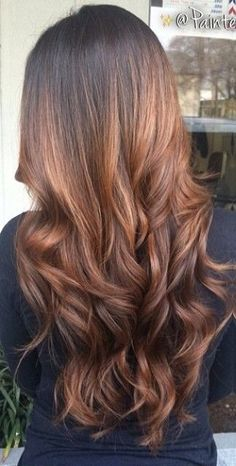 honey brown ombré