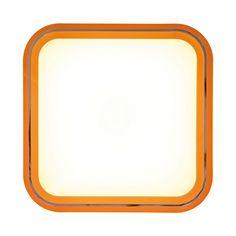 LED Deckenleuchte Lucky - Kunststoff Orange