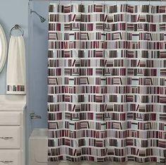 Bookstack shower curtain