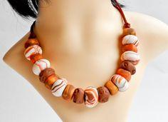 Terracotta Tone Bead Necklace