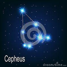 L étoile de Cepheus de constellation dans le ciel nocturne.