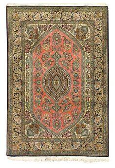 silk Qum rug   --163cm. x 112cm. (5ft.4in. x 3ft.8in.) I Christie's Sale 5755