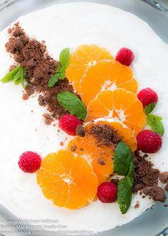 Pepparkakscheesecake med clementin, en given favorit på dessertbordet.