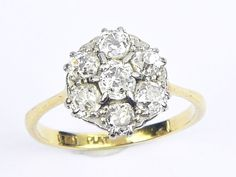 An antique English, solid 18 carat gold crossover trilogy ring; beautifully made, and set with three sparkling white old mine-cut diamonds in platinum settings. RING SIZE : O or 7 ½ US (easily sized within reason). Carat Gold, 18k Gold, Antique Gold Rings, Gold Platinum, Diamond Cuts, Sparkle, English, Engagement Rings, Antiques