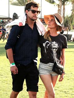 Diane Kruger and Joshua Jackson at Coachella 2013.