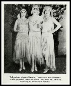 The Talmadge Sisters wearing Howard Greer Gowns in 1930 by CharmaineZoe, via Flickr