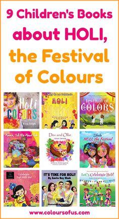 9 Children's Books About The Hindu Spring Festival Holi Preschool Books, Preschool Worksheets, Preschool Activities, Holi Festival Of Colours, Holi Colors, Best Books List, Book Lists, Holi Celebration, Color Activities