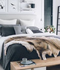Layering texture and colour adds so much interest. Ask jbj interiors how to get this look. #jbjinteriors #bedroom #bedroomdecor #bedhead #bed #bedlinen #grey #homedecor #homestyle #home #decorate #decor #design #designer #designinterior
