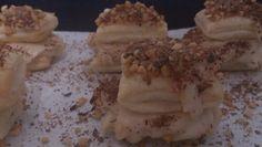 Milhojitas de turrón con crocanti de almendra