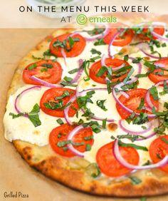 On #eMeals menus this week! Easy Grilled Pizzas: