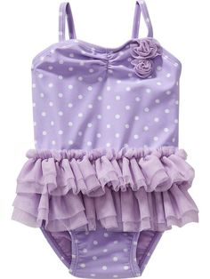 Polka-Dot Tutu Swimsuits for Baby Product Image