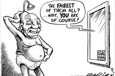 Zuma - New Age gets TV news channel published in Sunday Times on 10 Feb 2013 Fairest Of Them All, News Channels, Political Cartoons, New Age, Memes, Funny, Wall, Mirror Mirror, South Africa