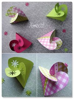 cute paper boxes from KaJott - handmade and unique DIY - instructions: Freebie: Small gifts ...
