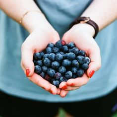 """Summer tip: Integrate a cup of blueberries into your daily diet to protect your skin against UV rays. By """"eating your sunscreen"""" (metaphorically) you are protecting your skin from the inside out at all times of the day and on all areas on your body.I am constantly searching and learning new ways to help my students develop and foster a healthy body. Along with the yoga practice, I also recommend that they undertake a holistic approach to health and nutrition."""