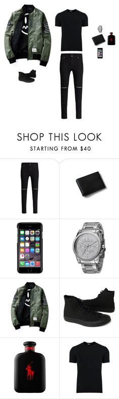 """""""First Day"""" by justyna-tita-witkowska ❤ liked on Polyvore featuring Lands' End, County Of Milan, Armani Exchange, Converse, Sephora Collection, Dolce&Gabbana, men's fashion, menswear, casual and look"""