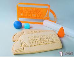 Santander World Sailing Championship cookie cutter! To celebrate sports! #santandercookies #isafcookies