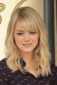 Haircut styles for round face emma stone 26 Ideas Medium Lenght Hair With Layers emma face Haircut Ideas stone Styles Long Face Hairstyles, Round Face Haircuts, Haircuts For Long Hair, Hairstyles For Round Faces, Medium Long Hair, Long Layered Hair, Medium Hair Styles, Short Hair Styles, Medium Length Hair With Layers And Side Bangs