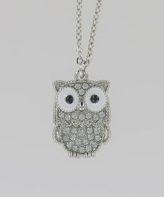 Another great find on #zulily! Silver Owl Necklace #zulilyfinds