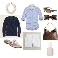 A fashion look from January 2012 featuring Abercrombie & Fitch tops, J.Crew cardigans and J.Crew shorts. Browse and shop related looks.