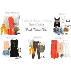 """""""Thailand Beach Holiday Travel Outfits"""" by travelfashiongirl on Polyvore"""