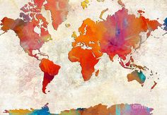 abstract world map painting - Google Search