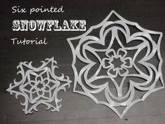 Fiocchi Di Neve Di Carta Modelli : Fantastiche immagini su carta fiocchi di neve nel