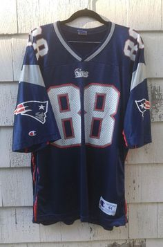 7125ea816 Details about Terry Glenn Vintage New England Patriots Football Jersey  Authentic Champion 44