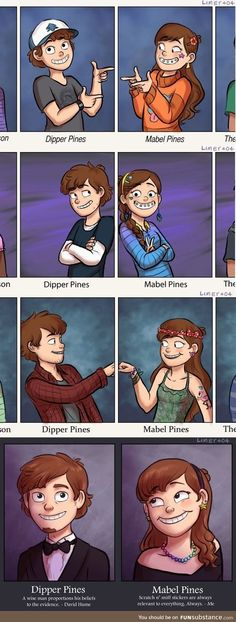 Who here likes Gravity Falls? Its kinda crazy sometimes, but still fun :).Dipper is so cute Love gravity falls :) Disney And Dreamworks, Disney Pixar, Disney Jokes, Dipper Und Mabel, Mabel Pines, Dipper Pines, Mable And Dipper, Phineas Und Ferb, Grabity Falls