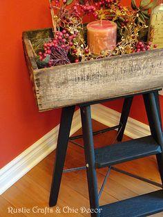 diy ladder tray by rustic-crafts.com