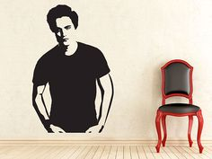 Celebrity wall decals: Robert Pattinson  #homedecor #homedesign
