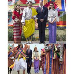 The Duke & Duchess of Cambridge and the King & Queen of Bhutan.  Kate and William received a ceremonial welcome as they arrived in the remote Himalayan kingdom of Bhutan, known for its Gross National Happiness   They will return to India on Saturday, but for the next two days the couple will be hosted by the Royal couple; King Khesar Namgyel Wangchuck and his wife Queen Jetsun Pema, who are expected to name their first child - a baby boy - this weekend.  Kate and William are just about to…