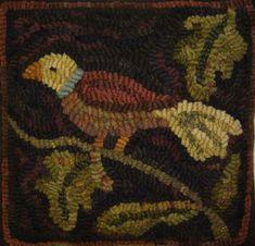 Hooked Rug ... Bird