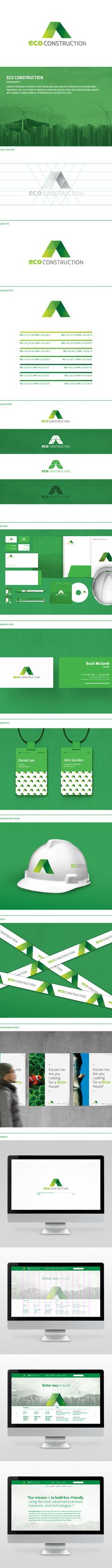 Eco Construction by Jasung Gu, via Behance #branding #graphicdesign