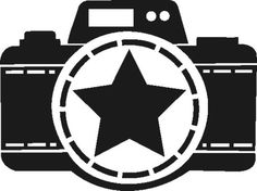 Kamera1, aus der *Pimpirazzi-Serie*, schwarz, Velours-Motiv zum Aufbügeln - PeppAuf.de