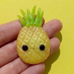 #kawaii #charms #polymer #clay #pineapple