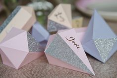 Glitter Gem Place Names tutorial by Berinmade 0730 - How To Make Glitter Gem Place Names For Your Wedding Reception