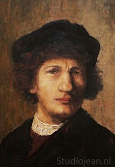 Jean Elliot painted a series of Rembrandt's self portraits in 2005 to commemorate the great Dutch painters birthday. This is a copy in oil paint of his self portrait that he painted in Rembrandt Self Portrait, Dutch Painters, Netherlands, Holland, Fiction, Old Things, Portraits, Oil, Birthday