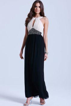 e9f17d1070ef Little Mistress Black   White Embellished Maxi Dress - Little Mistress from  Little Mistress UK Schwarzes