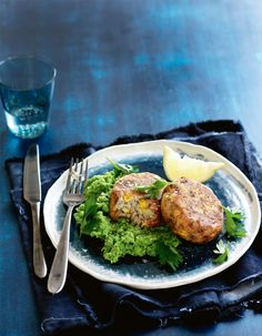 Fish Cakes and Mushy Peas. http://woolworths.com.au/wps/wcm/connect/Website/Woolworths/FreshFoodIdeas/Recipes/Recipes-Content/fishcakeswithmushypeas #Woolworths #Fresh #Seafood #Fish #Recipe #Food #Veggies