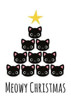 Christmas Love, Christmas Cats, Christmas Humor, Vintage Christmas, Christmas Holidays, Christmas Images, Merry Christmas, Illustration Inspiration, Cute Christmas Wallpaper